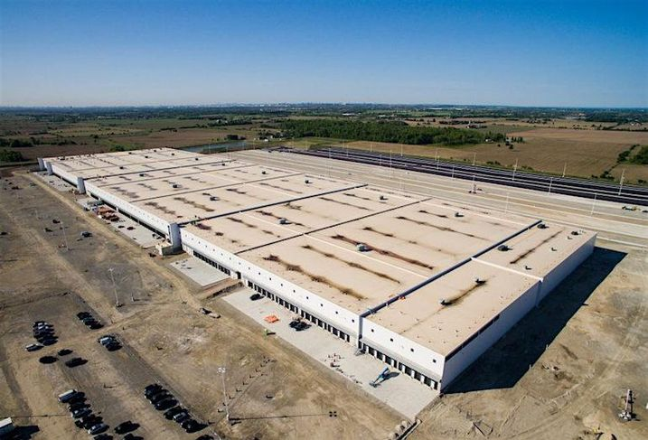 A new Canadian Tire distribution centre in Bolton, ON.