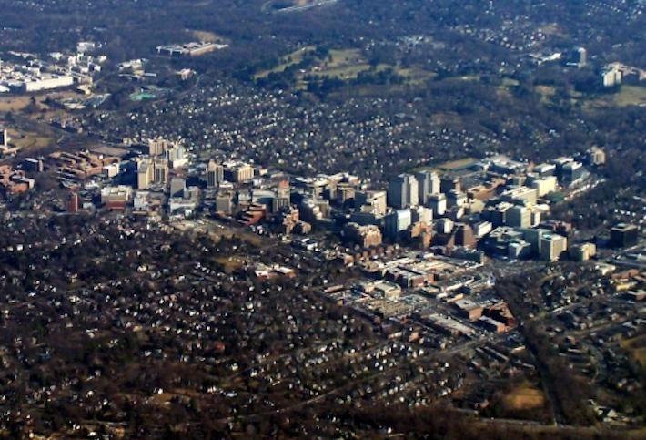Bethesda aerial shot
