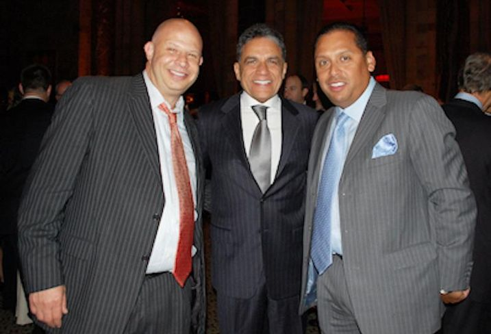 Brickman EVP Tony Fineman, The Moinian Group CEO Joe Moinian, and Alliance Building Services prez Michael Rodriguez