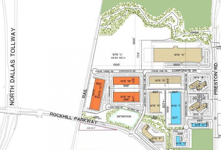 Frisco Park 25 has 14 lots on 216 acres zoned for industrial and commercial use. FEDC estimates the $300M development at Preston Road and Rockhill Parkway will have 2.2M SF at build out.
