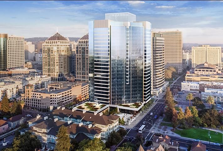 Rendering of 601 City Center in Oakland