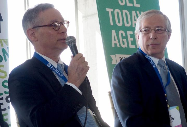 The Meridian Group president David Cheek and LCOR principal Bill Hard at Bisnow's Tysons event March 9, 2017