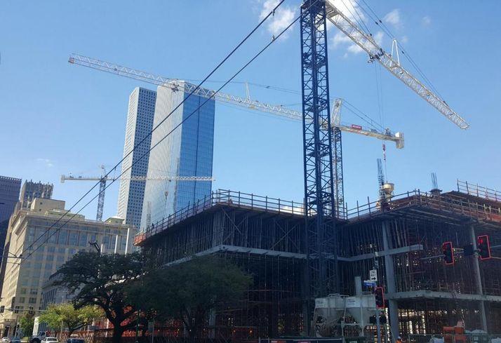 Downtown Houston Cranes