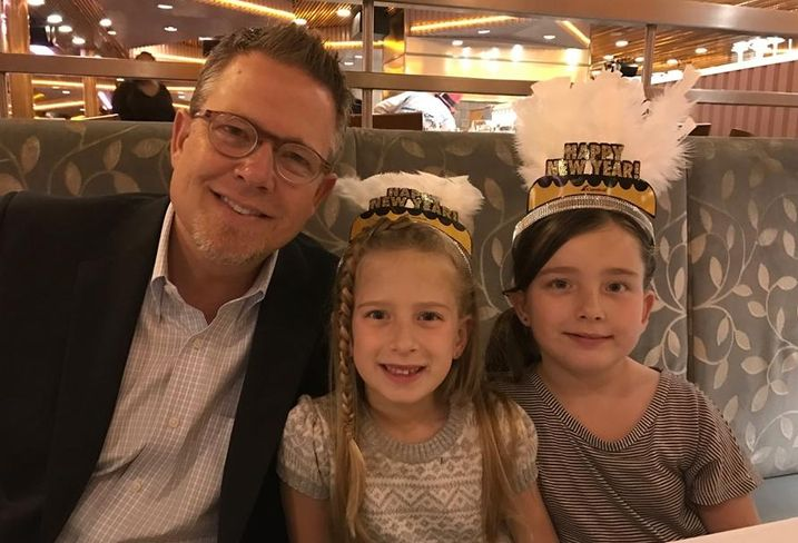 C.W. Driver Cos. vice president Paul Ruig with daughters.