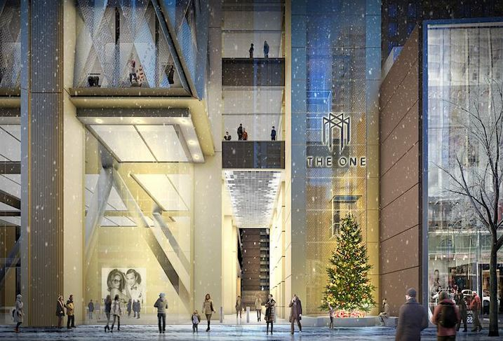 A rendering of The One as it will appear from Bloor Street.