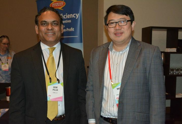 SHRE's Gene Pillai and CBRE Hotels SVP Michael Yu