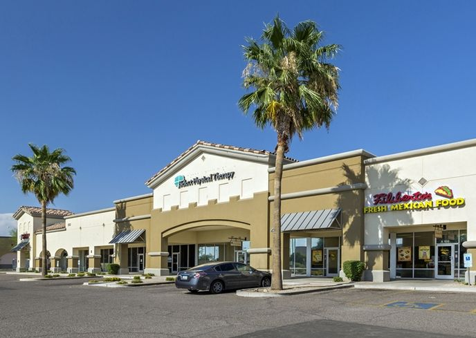 Shops at Sossaman, a neighborhood retail center at 7641 East Guadalupe Rd. in Mesa
