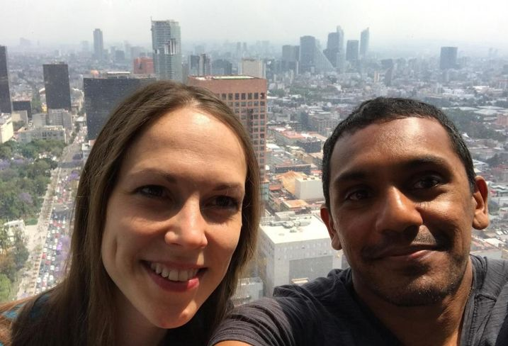 Arty Maharajh and wife, Anna, in Mexico City.