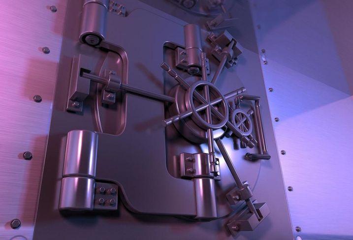 Bank vault, safe