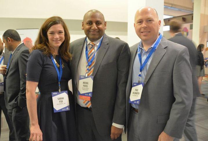 CallisonRTKL's Sarah Fox, Newcrestimage Management CEO Mehul Patel and CallisonRTKL's Paul Wilmarth