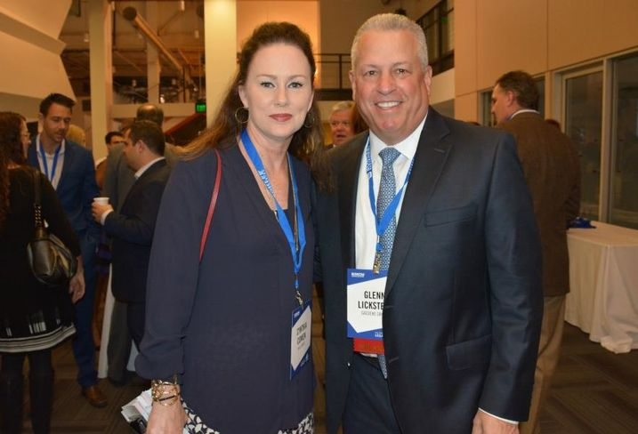 Hall Group's Cynthia Cowen and Gaedeke Group president Glenn Lickstein