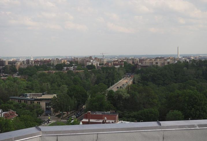 Washington DC view from Wardman Tower rooftop