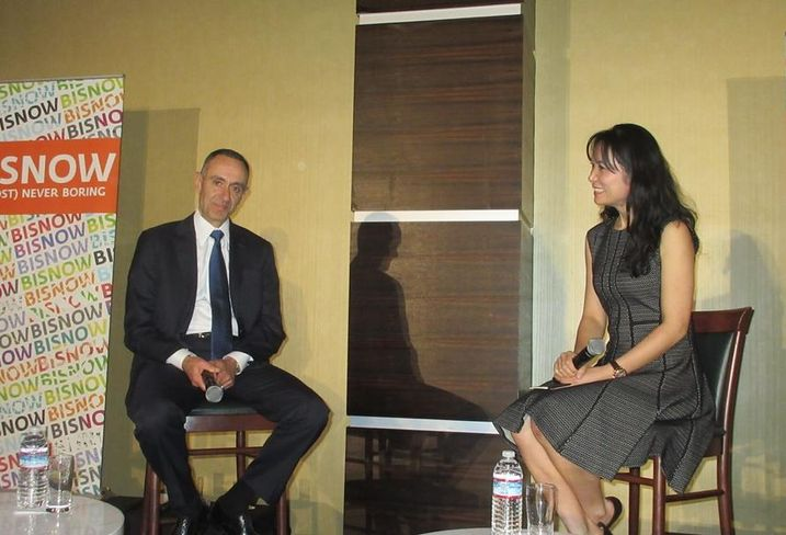IHG CEO The Americas Elie Maalouf and moderator, Team Leader Lockton Insurance China, US Business Claudia Margolis.