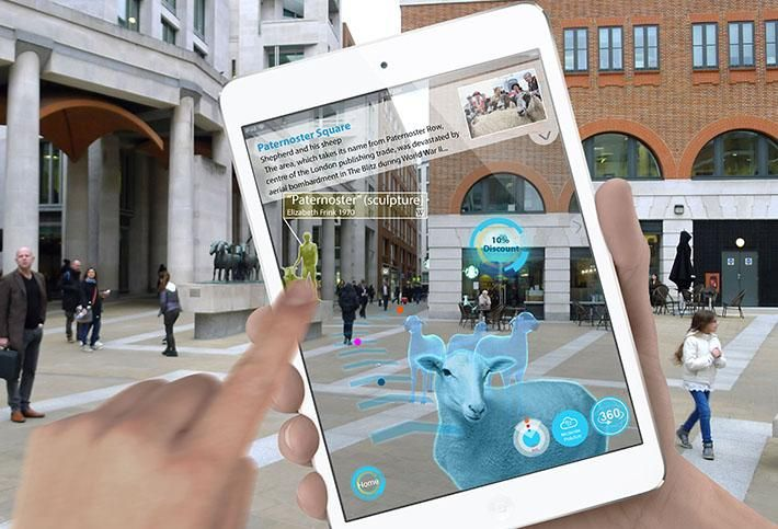 Atkins and Schréder's winning entry, Key to the City, uses an augmented reality smartphone app and smart-enabled street furniture to celebrate the City of London's network of more than 150 Green Spaces