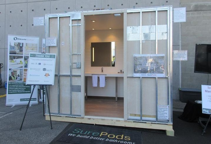 SurePods modular bathroom.