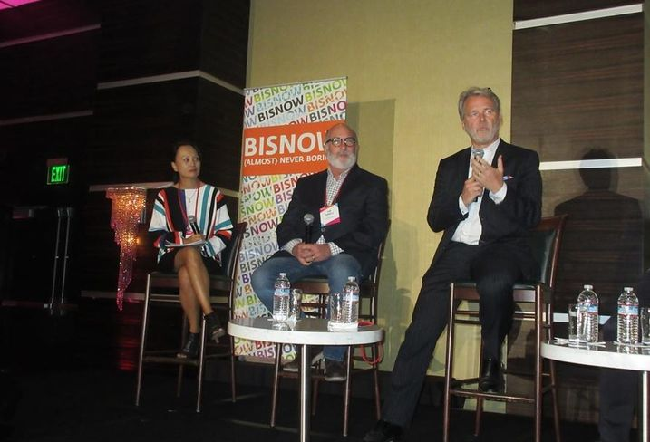 Architects Orange Hospitality Designer Lalaine Tanaka, Hilton vice president Tim Powell, TOTO USA William Strang at BLIS.