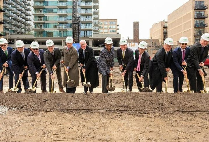 Groundbreaking for 1326 South Michigan Ave.