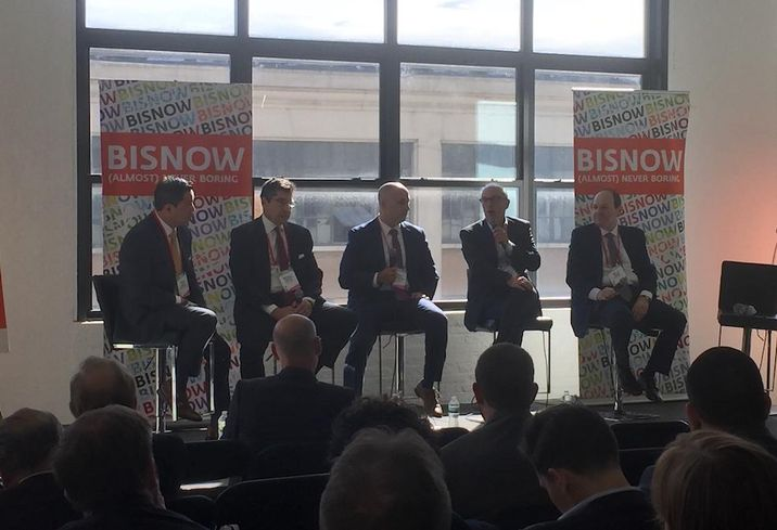Eastern Consolidated's Peter Carillo, Essex Capital CEO Mitchell Rutter, Ariel Property Advisors director Daniel Wechsler, Bronstein Properties' Barry Rudofsky and ABC Properties' Myles Horn