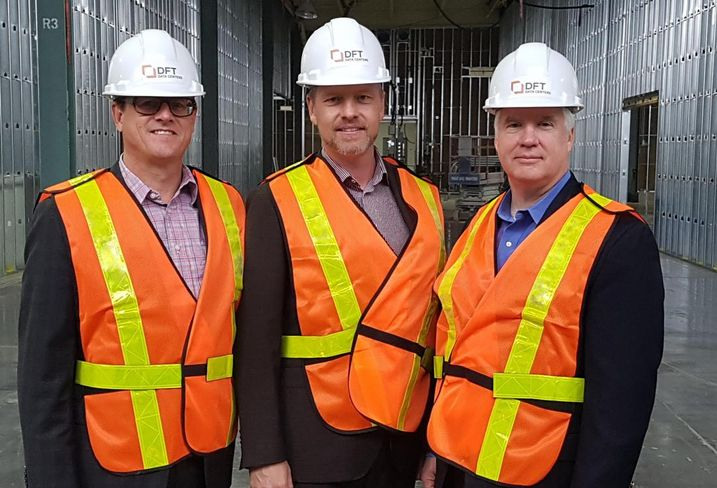 Scott Metcalfe of JLL, Geoff Ois, Toronto DFT director of sales and leasing,  and Bob O