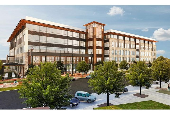 This 250K SF office tower in Billingsley Co.'s Cypress Waters overlooks the 35K SF restaurant and retail hub called The Sound. The five-story mid-rise has floor plates ranging from 50K SF to 56K SF and 5.5:1,000 SF parking ratios. The project designed by Gensler will deliver in Q3 2018. Another spec project, 9111 Cypress Waters Blvd., delivered recently and tenants are moving in now.