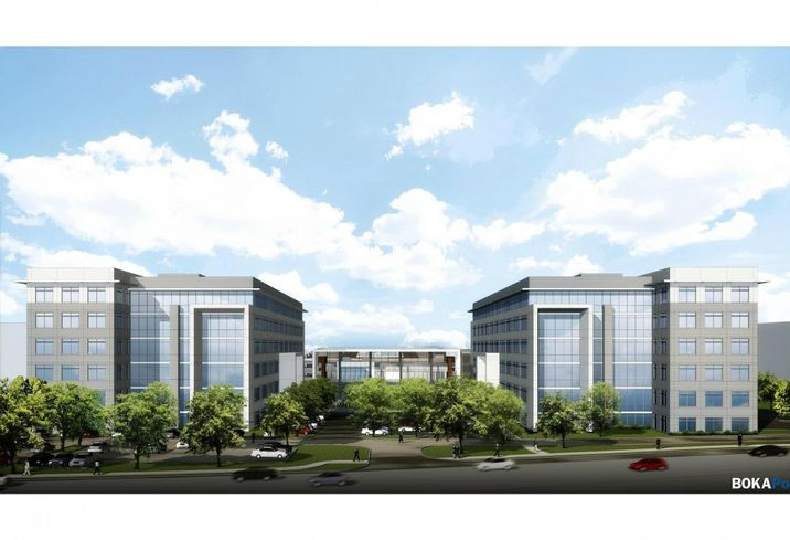 Fourteen555 in Dallas Cawley Partners' Fourteen555 project designed by BOKA Powell architects building broke ground a couple weeks ago with plans to deliver in September of October 2018. The 240K SF project is about half leased to Occidental Petroleum Corp. With floor plates stretching 40K SF, Cawley Partners is now fielding interest from tenants sized 5K SF to 120K SF, Cawley Partners' Jeremy Duggins said. The site is designed to house a second project that could be identical in size, depending on tenant interest. Cawley Partners' Bill Cawley, Jeremy Duggins and Addie Ludwig are leasing the project.