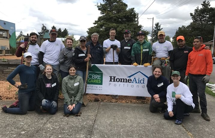 CBRE Portland Employees Participate In HomeAid Portland