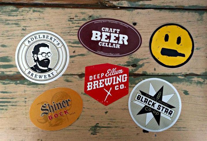 Craft beer texas stickers