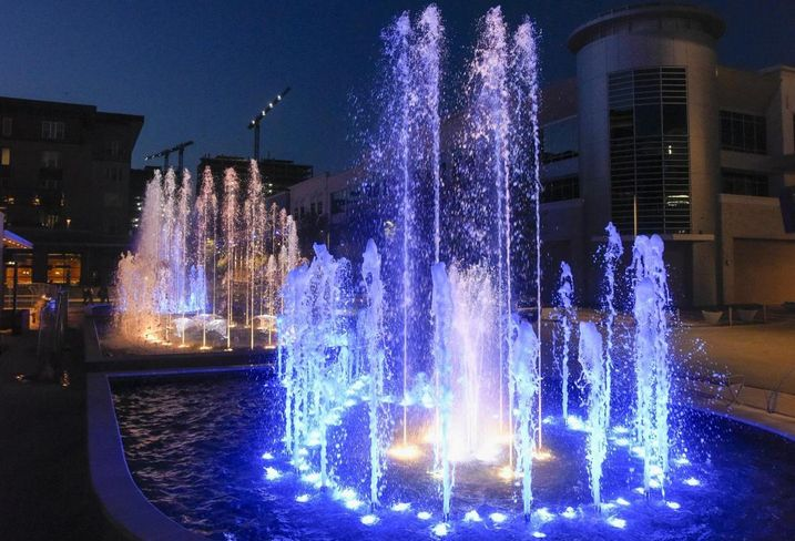 Plano's $3B Legacy West is open for business. Design-build construction company Outside the Lines debuted a 4K SF water fountain as the centerpiece for the 415K SF mixed-used development. Legacy West is one of the largest mixed-use developments in North Texas with the only show fountain of its kind.
