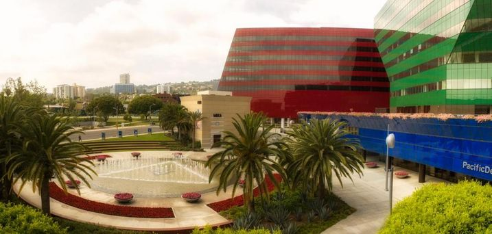 Pacific Design Center's RedBuilding in West Hollywood, CA