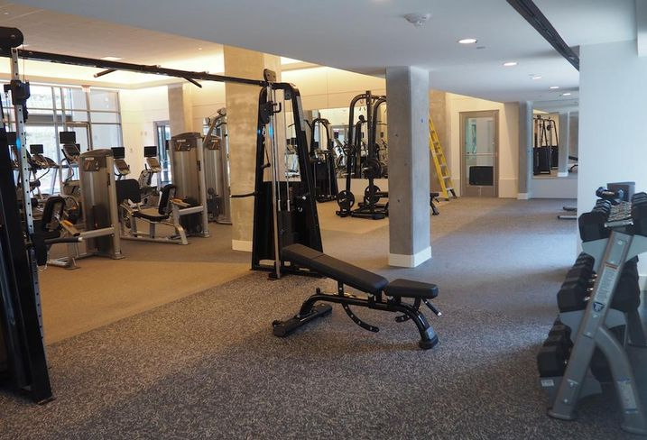The fitness center in Modern at Art Place