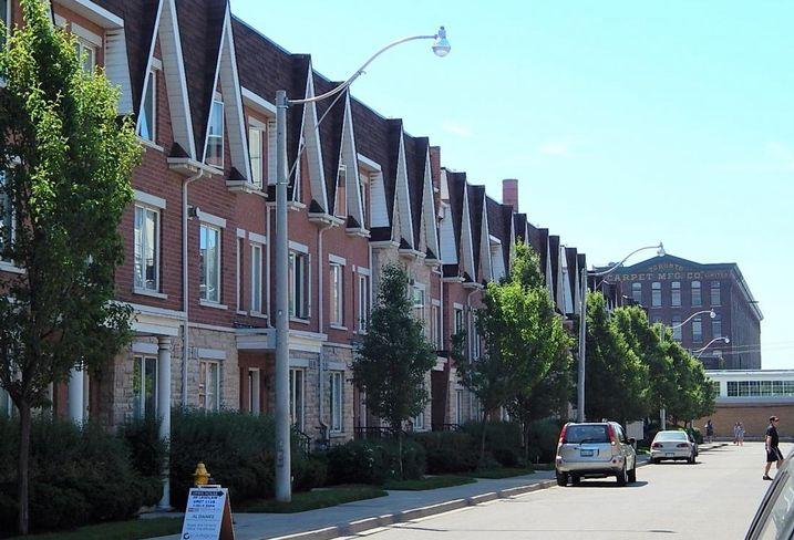 Row housing in Toronto -