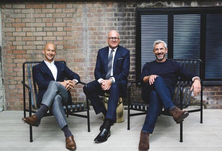 The Office Group London execs Olly Olsen, Lloyd Dorfman and Charlie Green