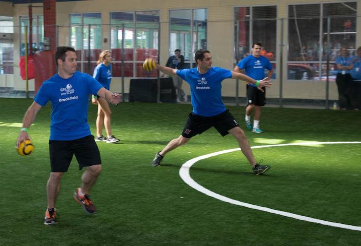 Dodgeball at the JDRF Real Estate games at Chelsea Piers in Manhattan
