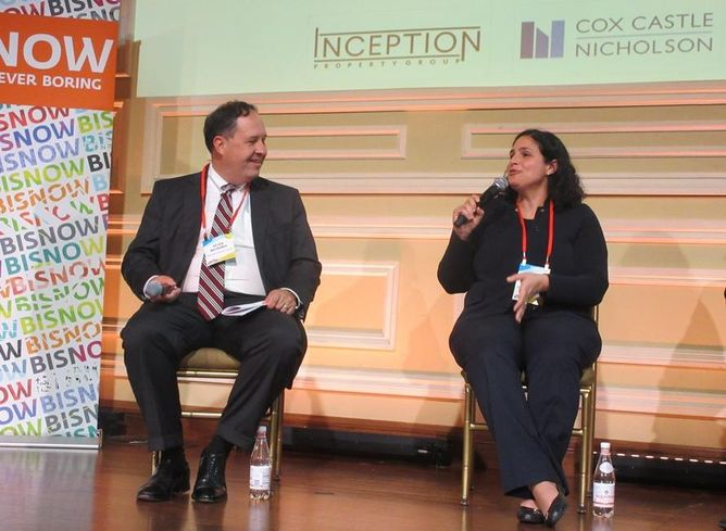 Inception Property Group Founding Partner Peter Becronis and  Children's Hospital of Los Angeles Senior Vice President and Chief Strategy Officer Lara Khouri