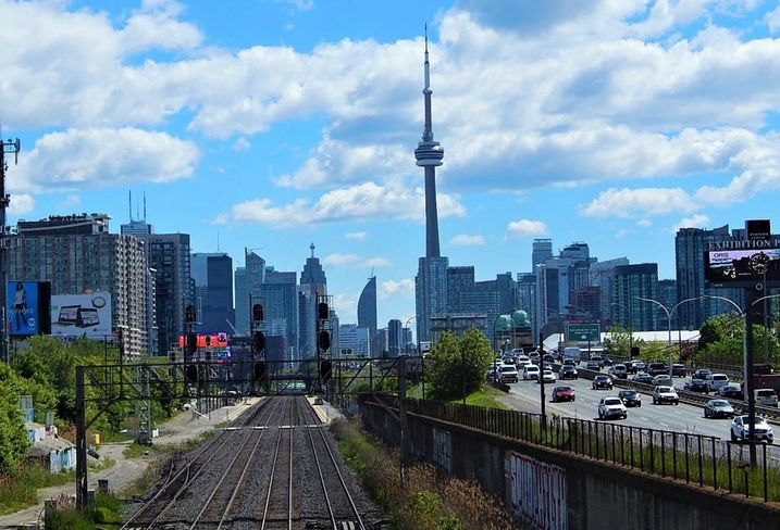 Toronto tracks and highway