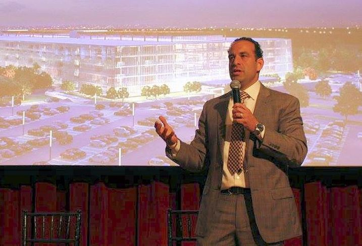 Newark CEDC EVP and chief real estate officer Carmelo Garcia at Bisnow's Repositioning and Redeveloping New Jersey event at Bell Works
