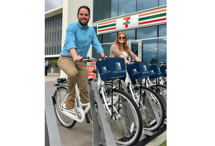 Billingsley Co. and Zagster launched a bike-share program that will provide all Cypress Waters tenants and visitors with a way to get around the development by bike.