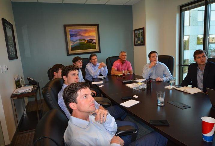 Rowan members at a meeting