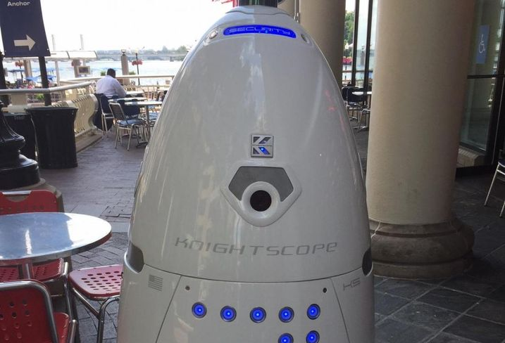 Steve, the Washington Harbour security robot