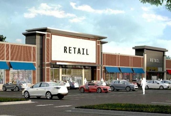 A rendering of Retail at the Fields, Chicago