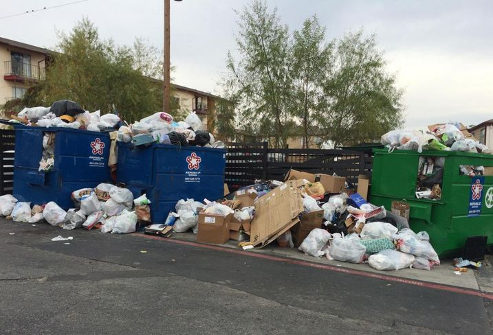 Recycling trash, landfill