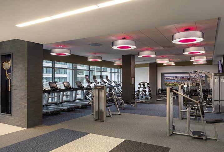 The 3,500 SF gym at Boston's The Kensington apartments