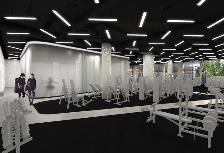 Midtown Center gym rendering