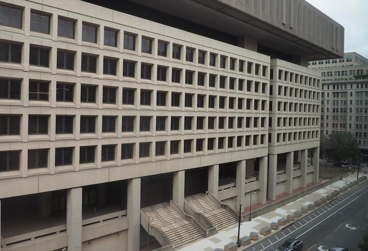 FBI HQ from 909 E ST. NW