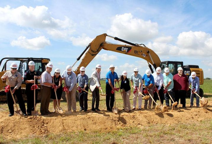 HEB Ground Breaking In Mont Belvieu with Fidelis Realty Partners