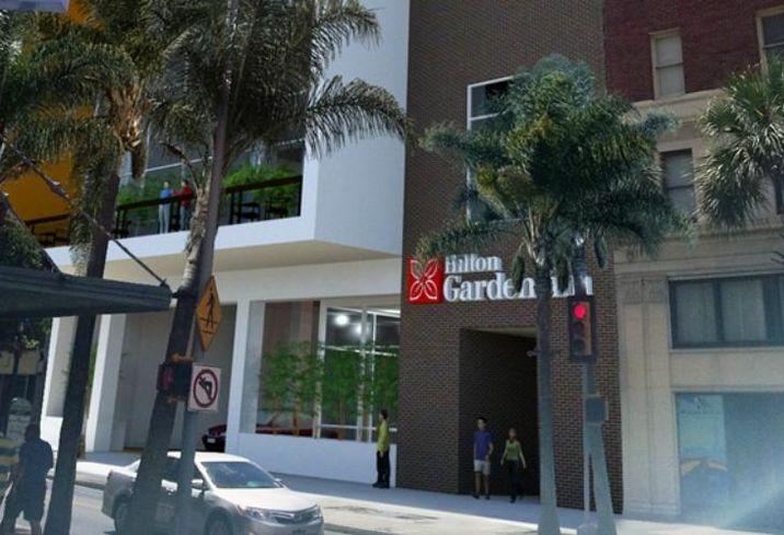 The Hilton Garden Inn Downtown Riverwalk