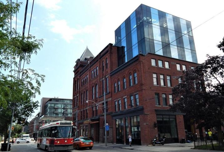 Broadview Hotel east end Toronto. Streetcar