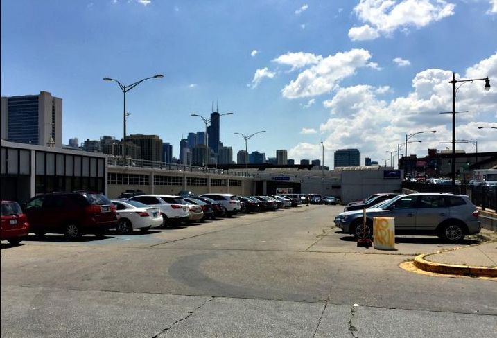 Greyhound bus maintenance facility on Chicago's North Branch Industrial Corridor