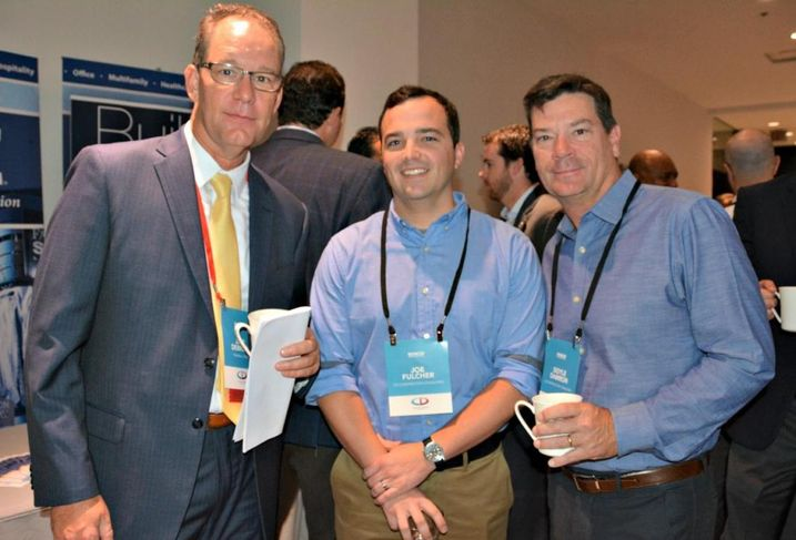 Trammell Crow Principal Jeff DeBruin, CD Construction Consulting's Joe Fulcher and CD Construction Consulting's Doyle Damron