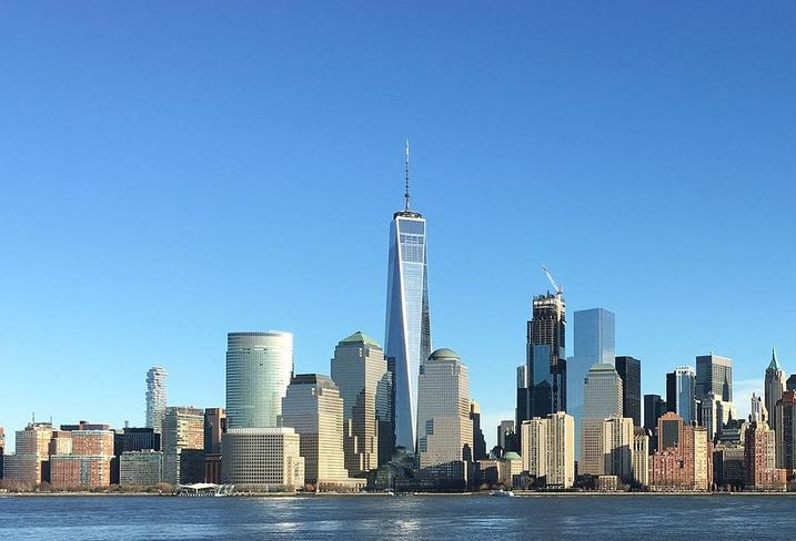 View of Lower Manhattan and the World Trade Center, New York
